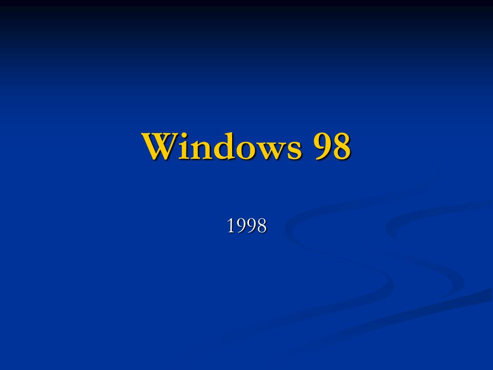 Windows 98 1998