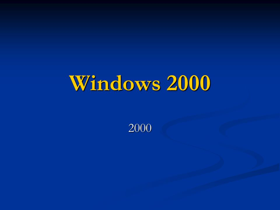 Windows 2000 2000