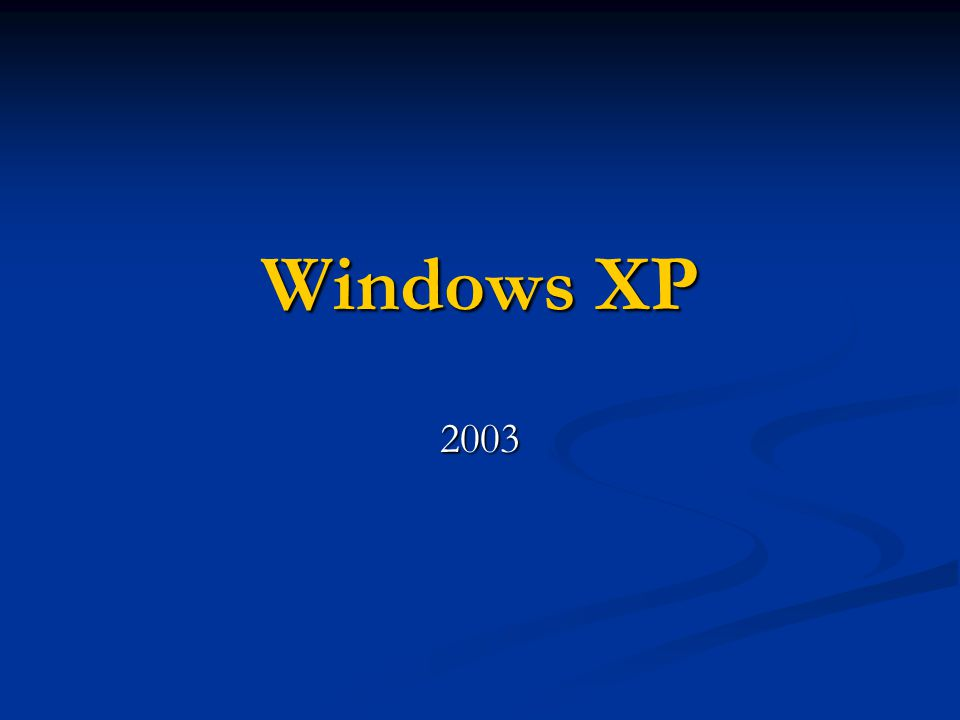 Windows XP 2003