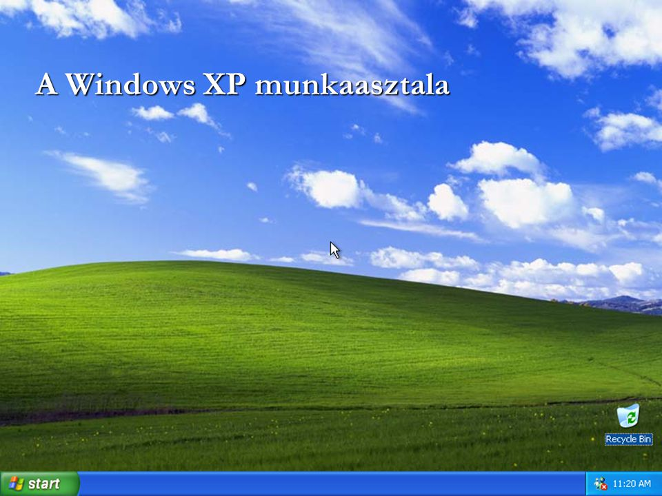 A Windows XP munkaasztala