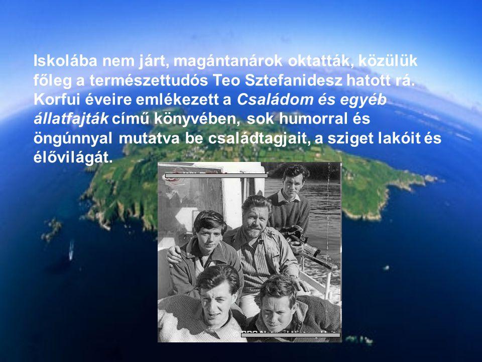 Iskolába nem járt, magántanárok oktatták, közülük főleg a természettudós Teo Sztefanidesz hatott rá.