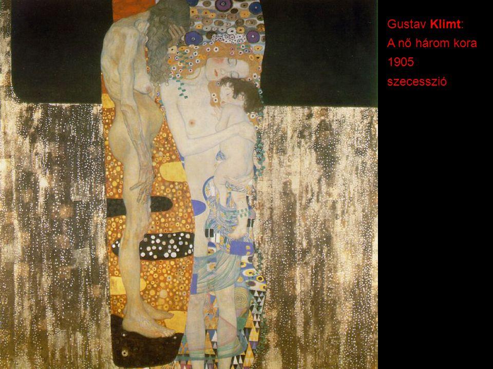 Gustav Klimt: A nő három kora 1905 szecesszió