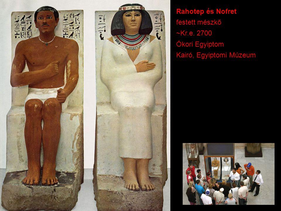 Rahotep és Nofret festett mészkő ~Kr.e. 2700 Ókori Egyiptom Kairó, Egyiptomi Múzeum