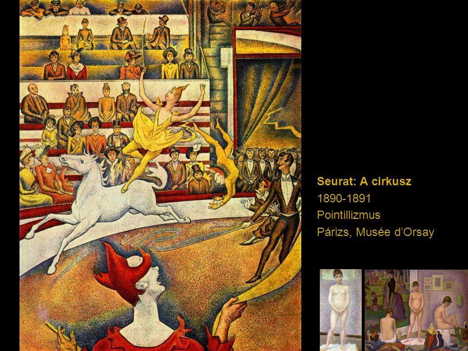 Seurat: A cirkusz 1890-1891 Pointillizmus Párizs, Musée d'Orsay
