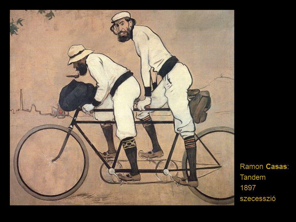 Ramon Casas: Tandem 1897 szecesszió