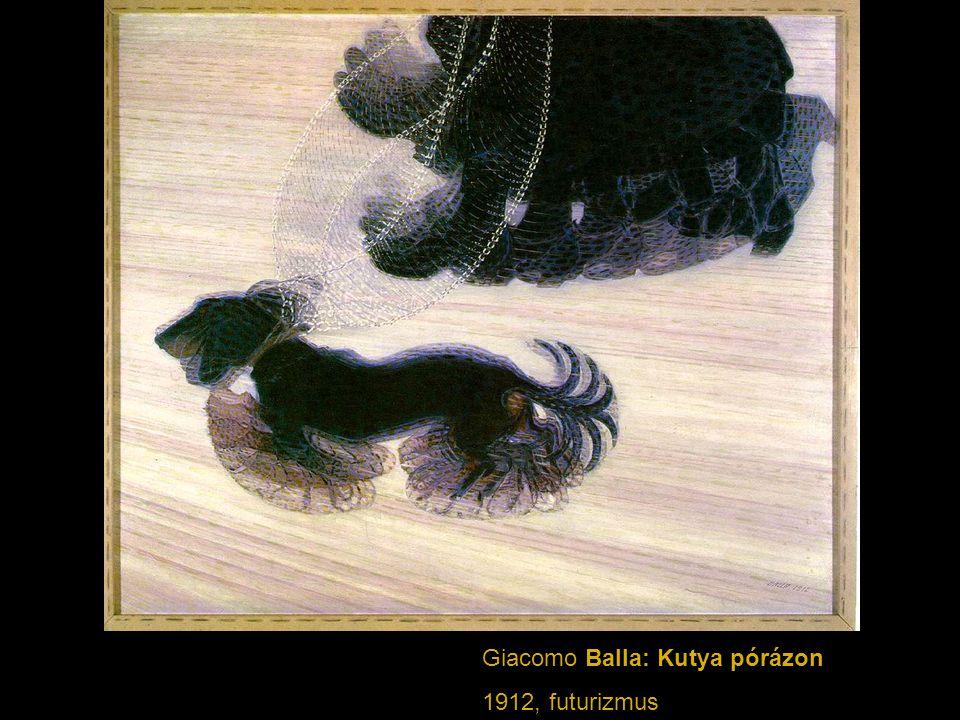 Giacomo Balla: Kutya pórázon
