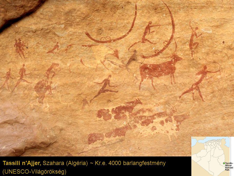 Tassili n Ajjer, Szahara (Algéria) ~ Kr.e. 4000 barlangfestmény