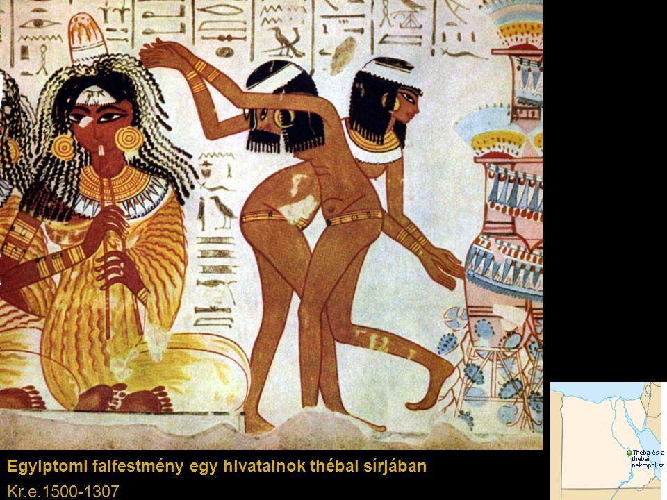 Egyiptomi falfestmény egy hivatalnok thébai sírjában