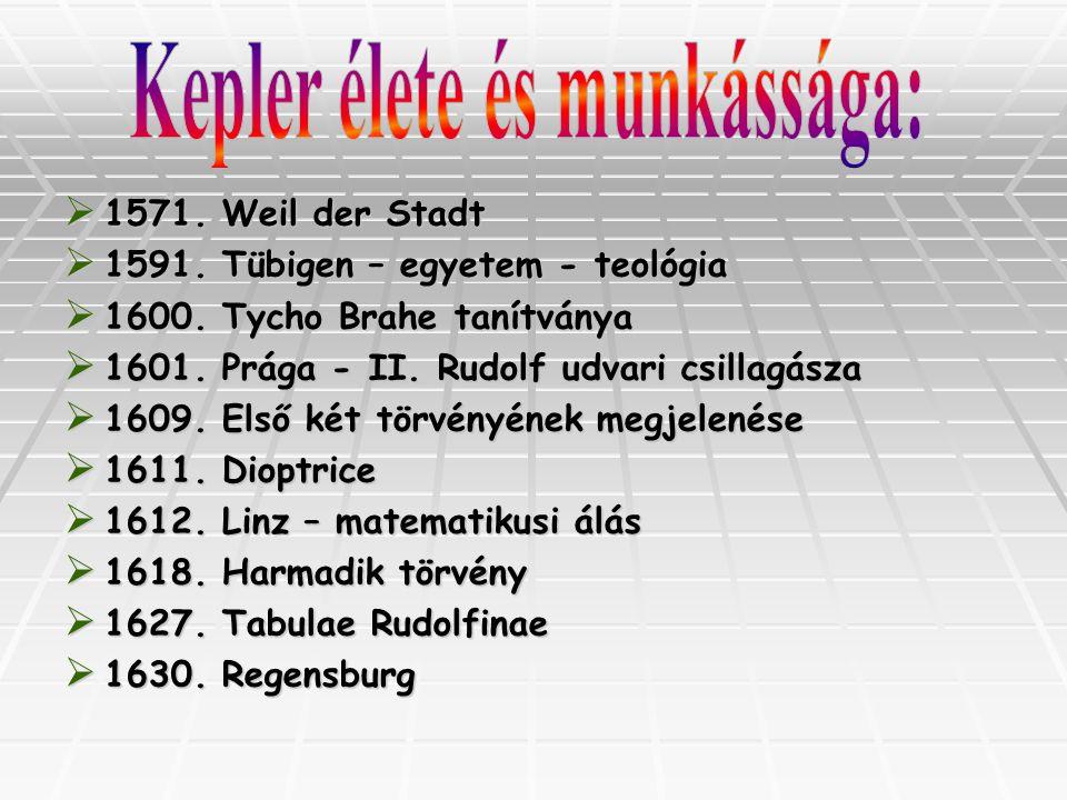 Kepler élete és munkássága: