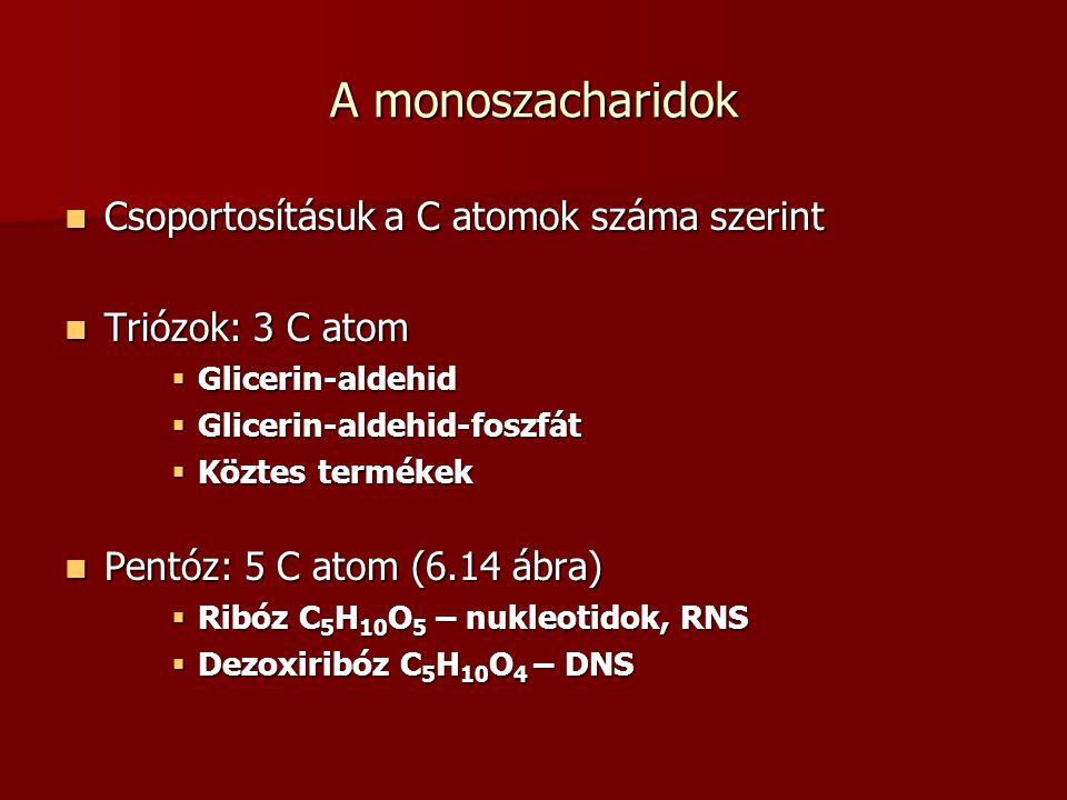 A monoszacharidok Csoportosításuk a C atomok száma szerint