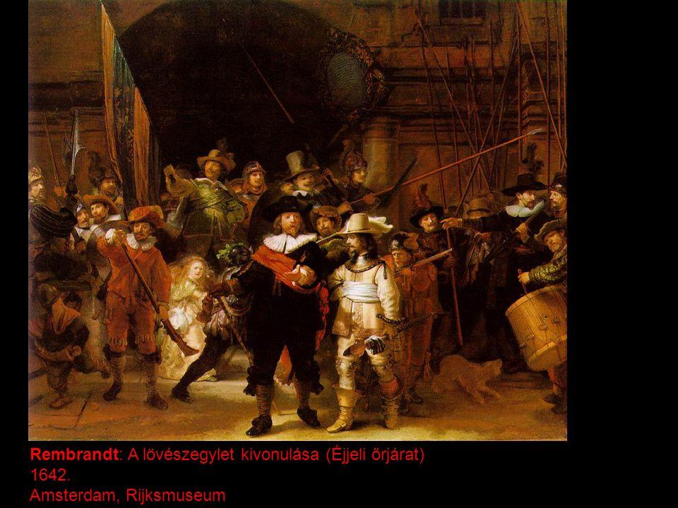 Rembrandt: A lövészegylet kivonulása (Éjjeli őrjárat)