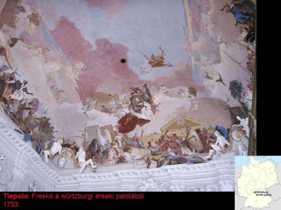 Tiepolo: Freskó a würtzburgi érseki palotából