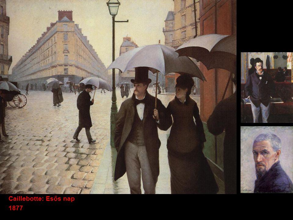 Caillebotte: Esős nap 1877
