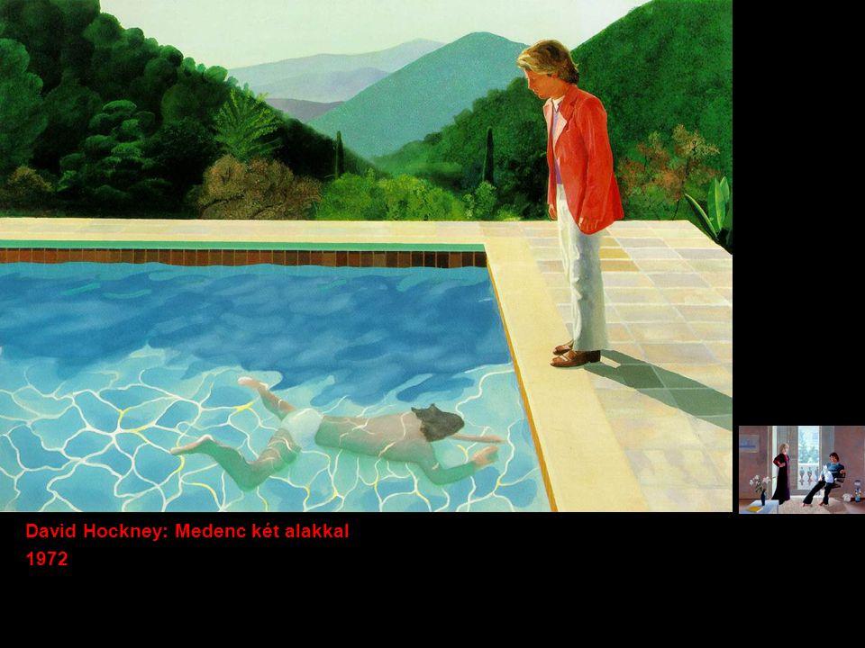 David Hockney: Medenc két alakkal