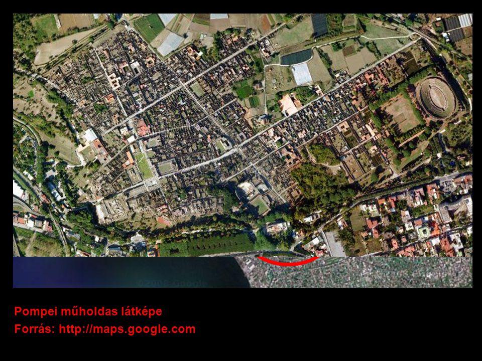 Pompei műholdas látképe