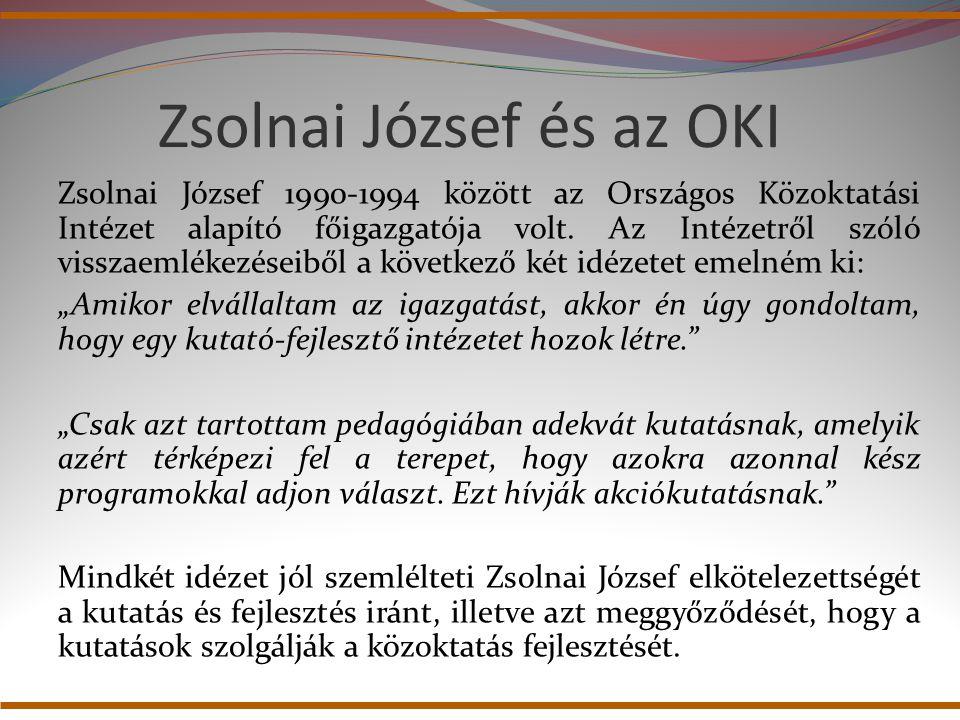Zsolnai József és az OKI
