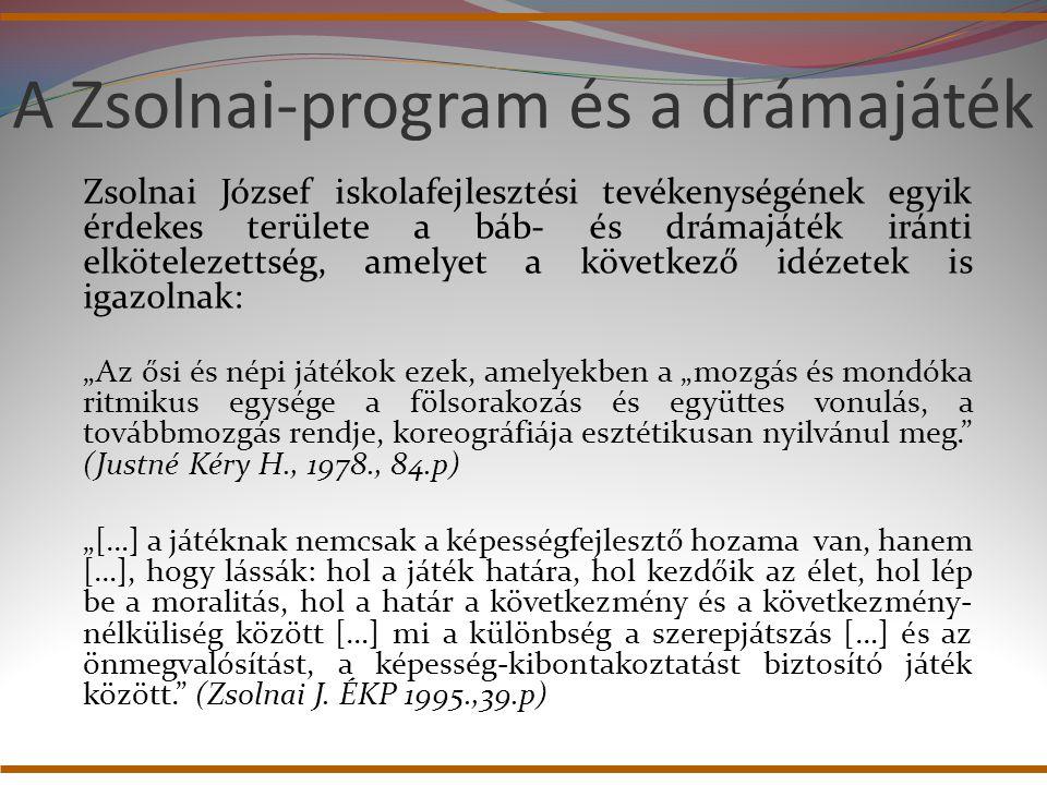 A Zsolnai-program és a drámajáték