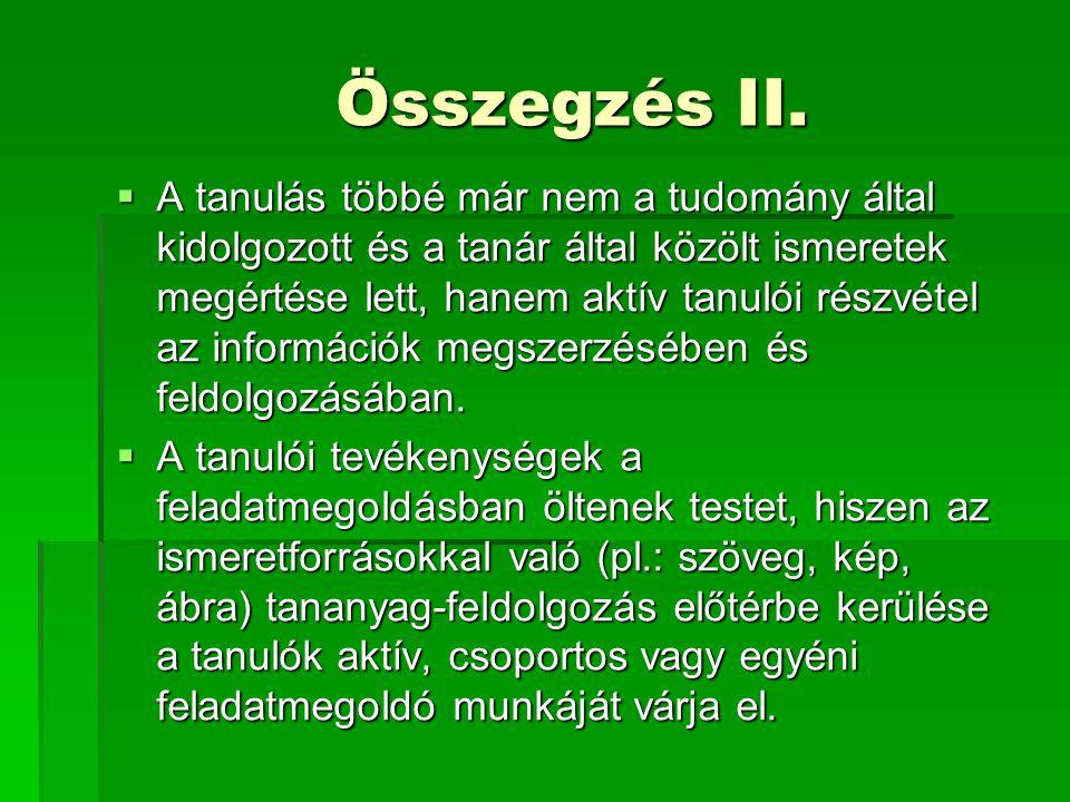 Összegzés II.