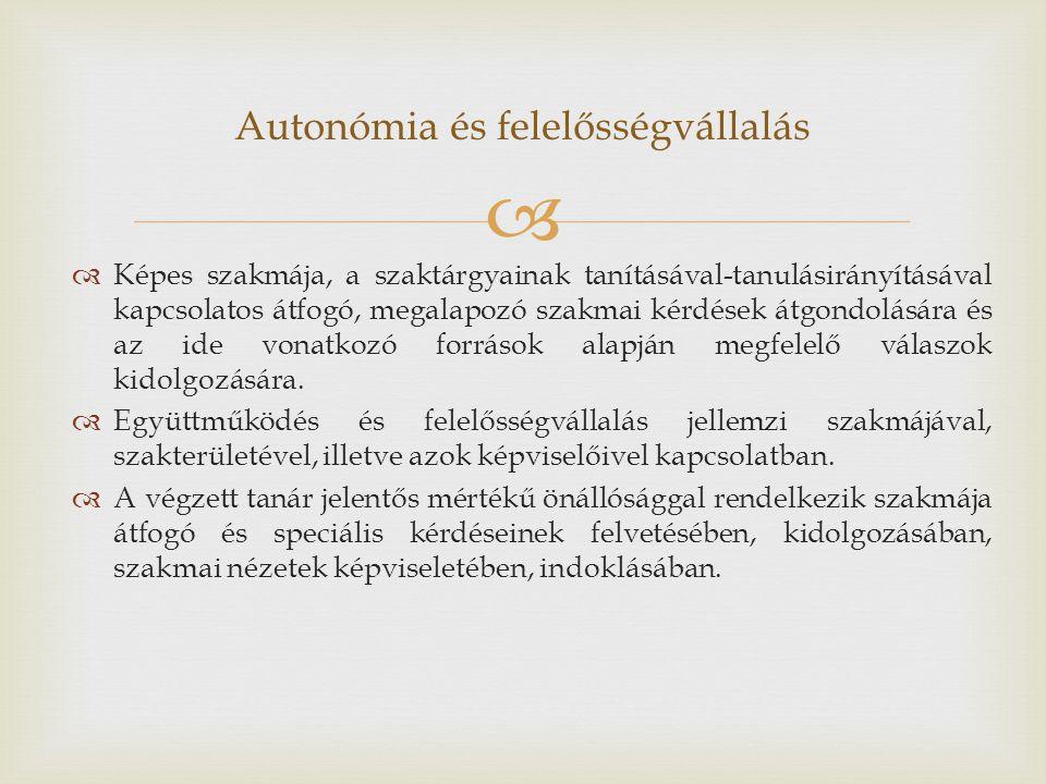Autonómia és felelősségvállalás
