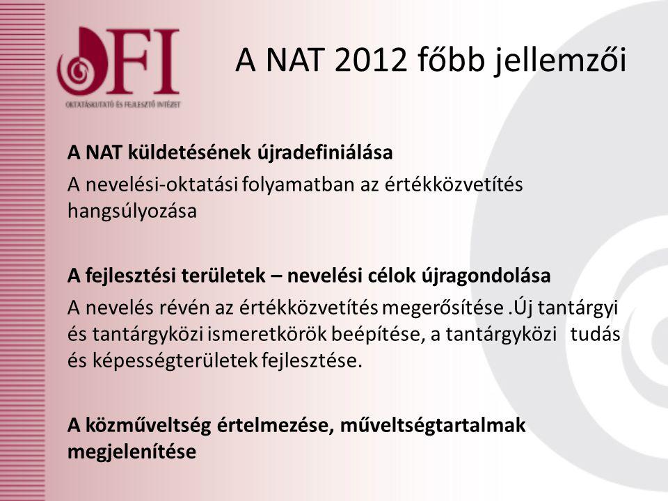 A NAT 2012 főbb jellemzői