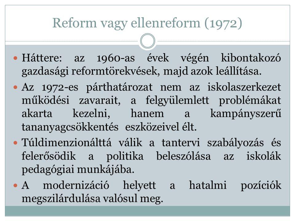 Reform vagy ellenreform (1972)