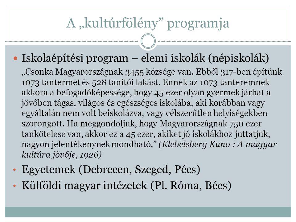 """A """"kultúrfölény programja"""