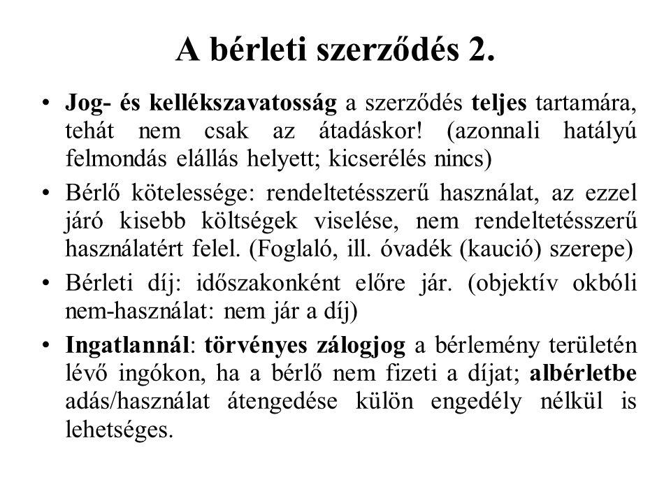 A bérleti szerződés 2.