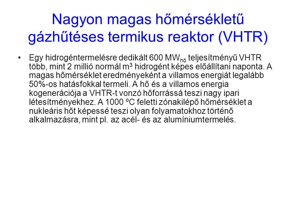 Nagyon magas hőmérsékletű gázhűtéses termikus reaktor (VHTR)