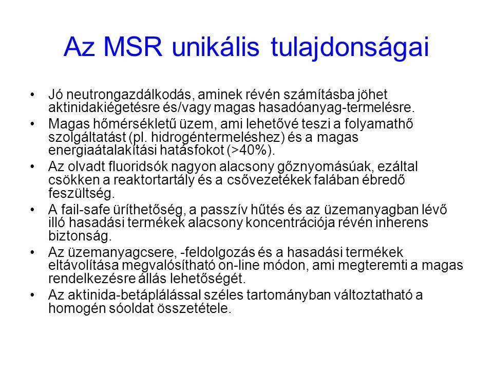 Az MSR unikális tulajdonságai
