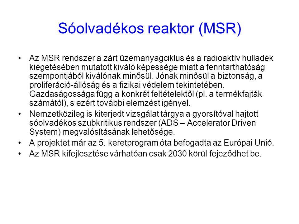 Sóolvadékos reaktor (MSR)