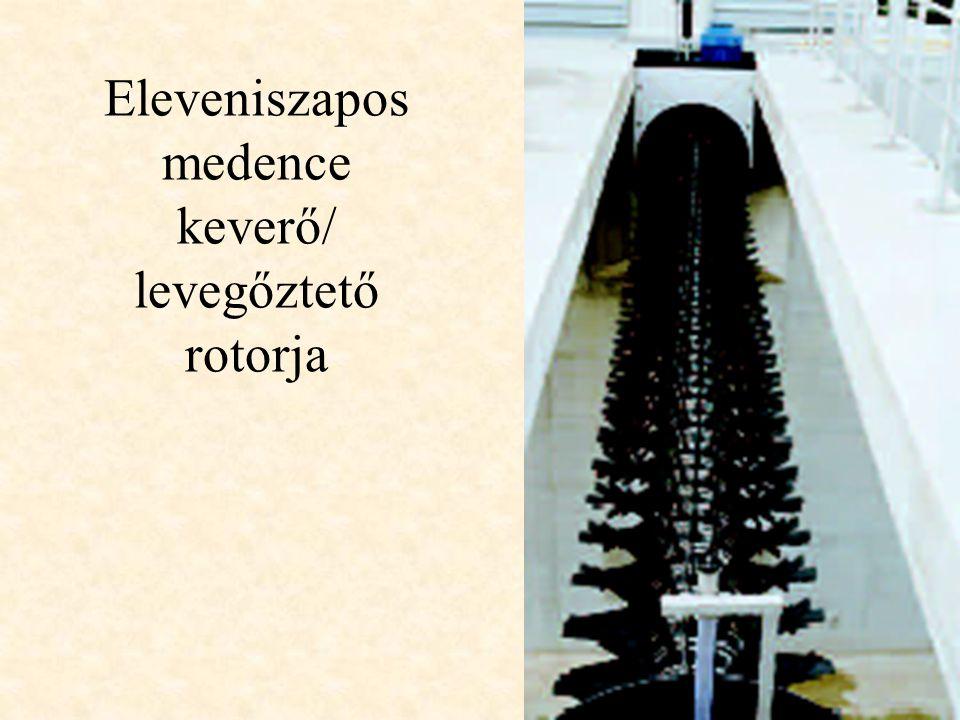 Eleveniszapos medence keverő/ levegőztető rotorja