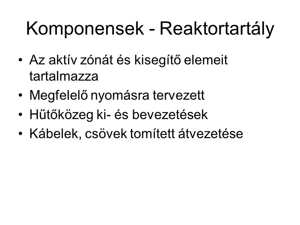 Komponensek - Reaktortartály