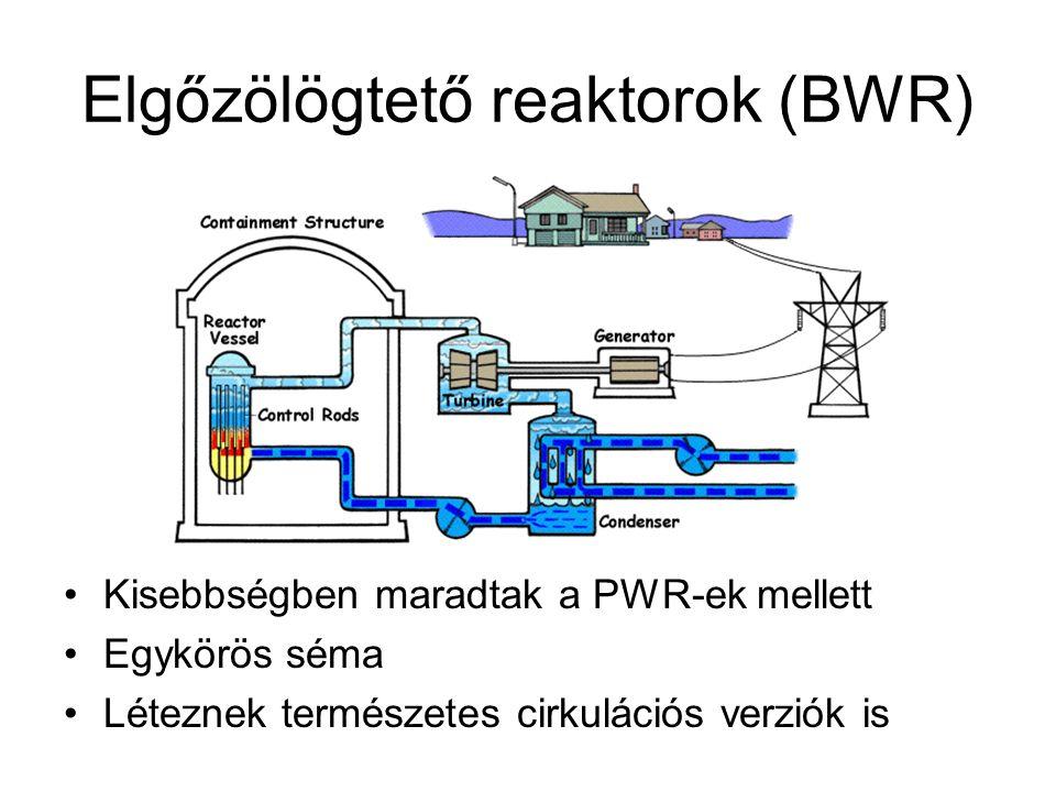 Elgőzölögtető reaktorok (BWR)