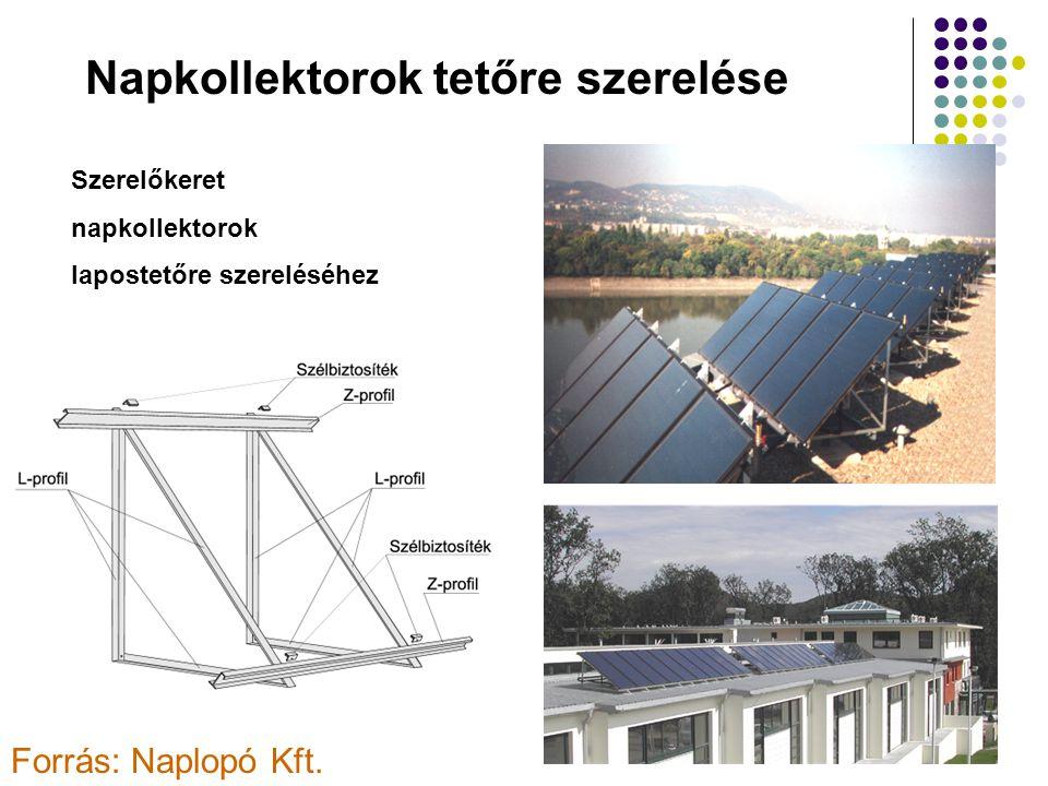 Napkollektorok tetőre szerelése