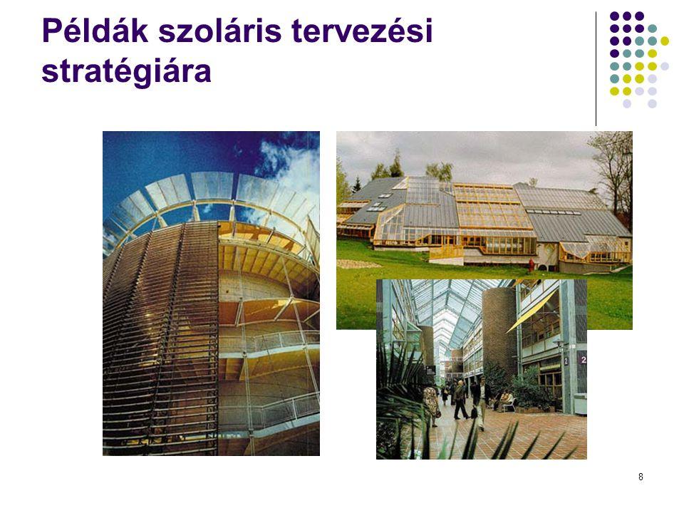 Példák szoláris tervezési stratégiára