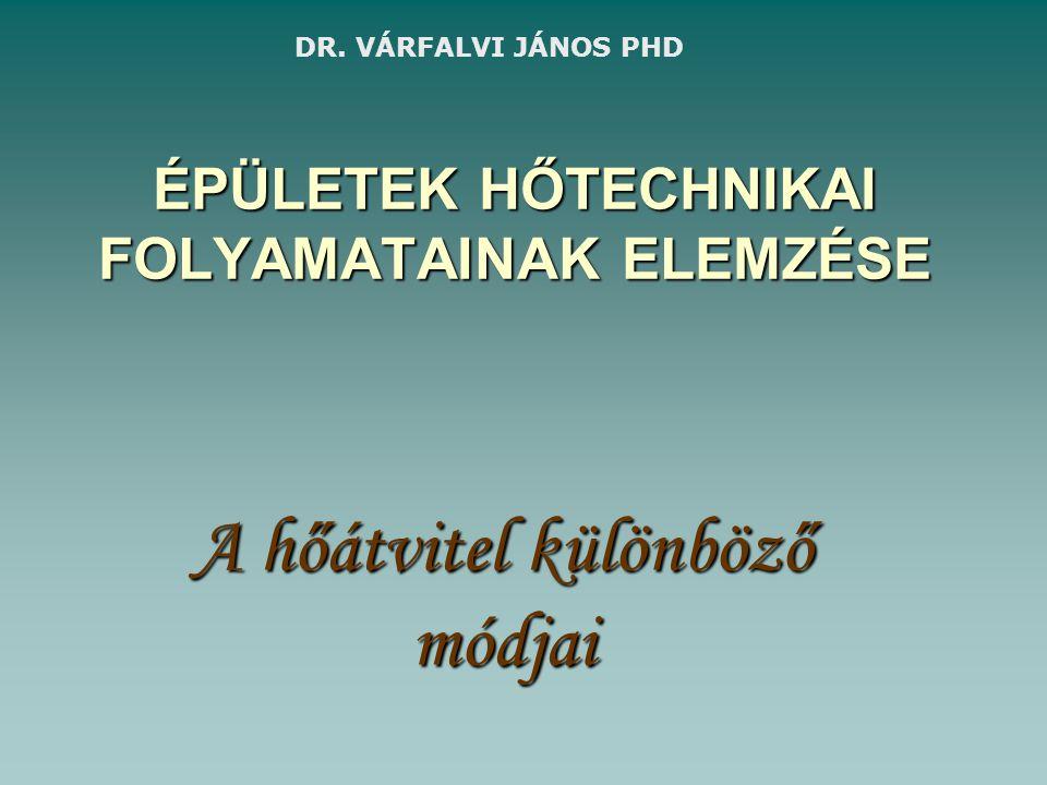 ÉPÜLETEK HŐTECHNIKAI FOLYAMATAINAK ELEMZÉSE