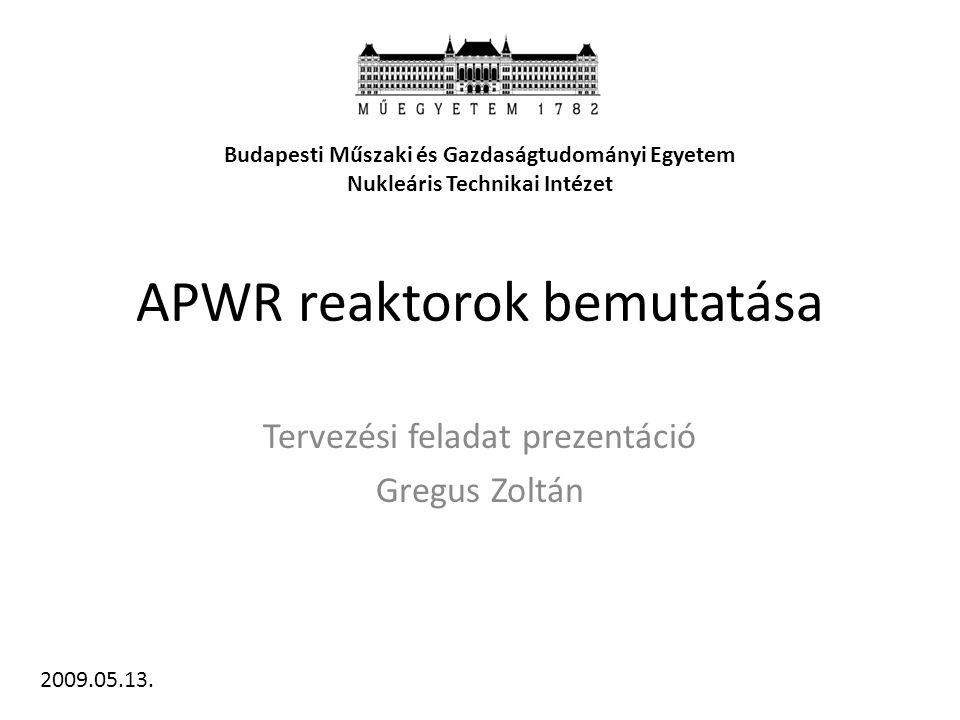 APWR reaktorok bemutatása