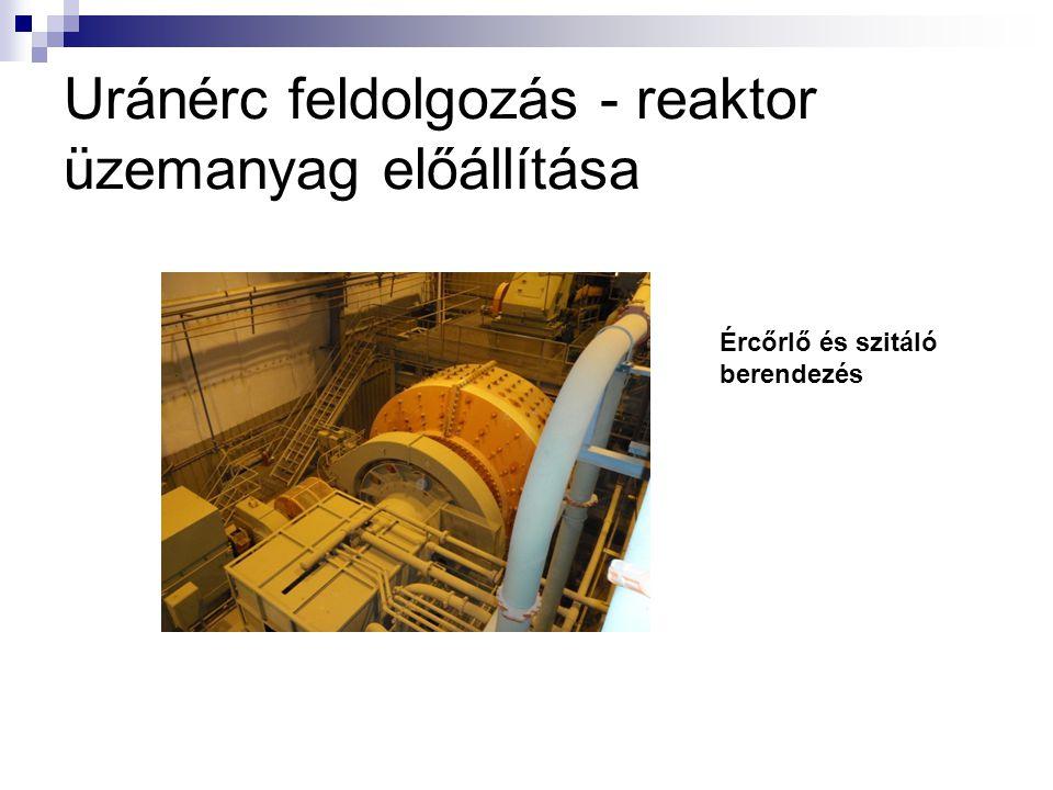 Uránérc feldolgozás - reaktor üzemanyag előállítása
