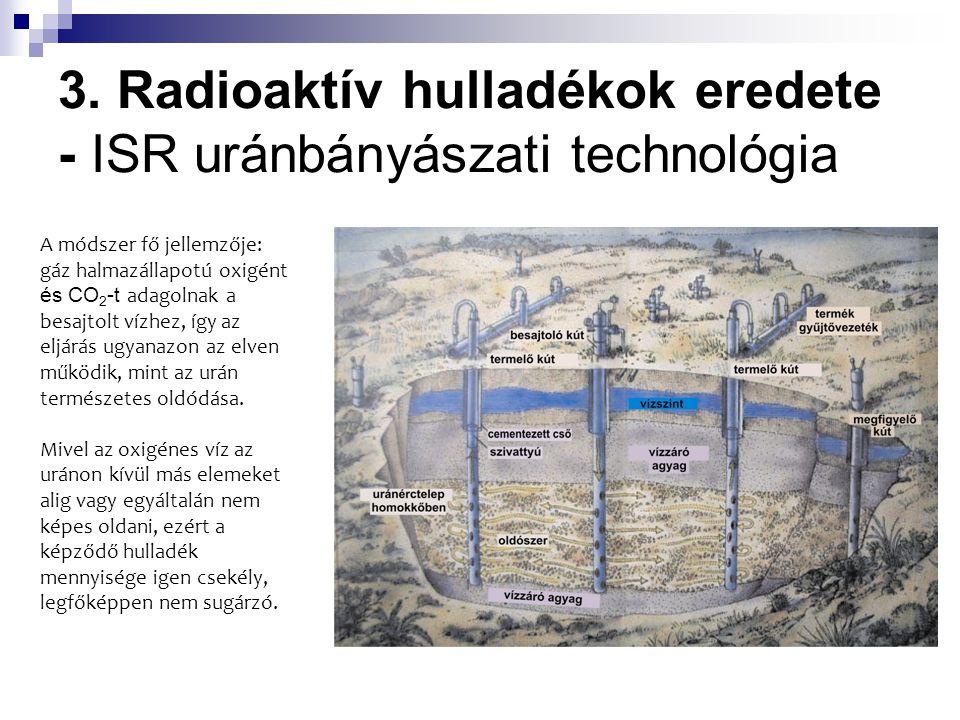 3. Radioaktív hulladékok eredete - ISR uránbányászati technológia