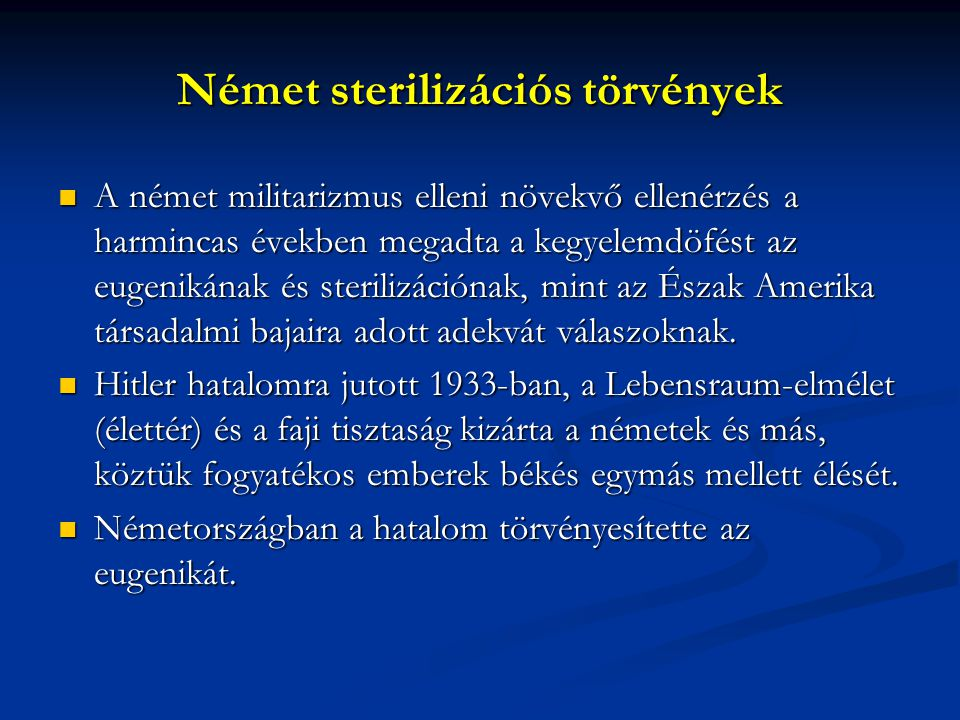 Német sterilizációs törvények