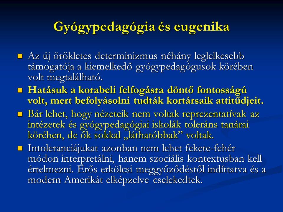 Gyógypedagógia és eugenika