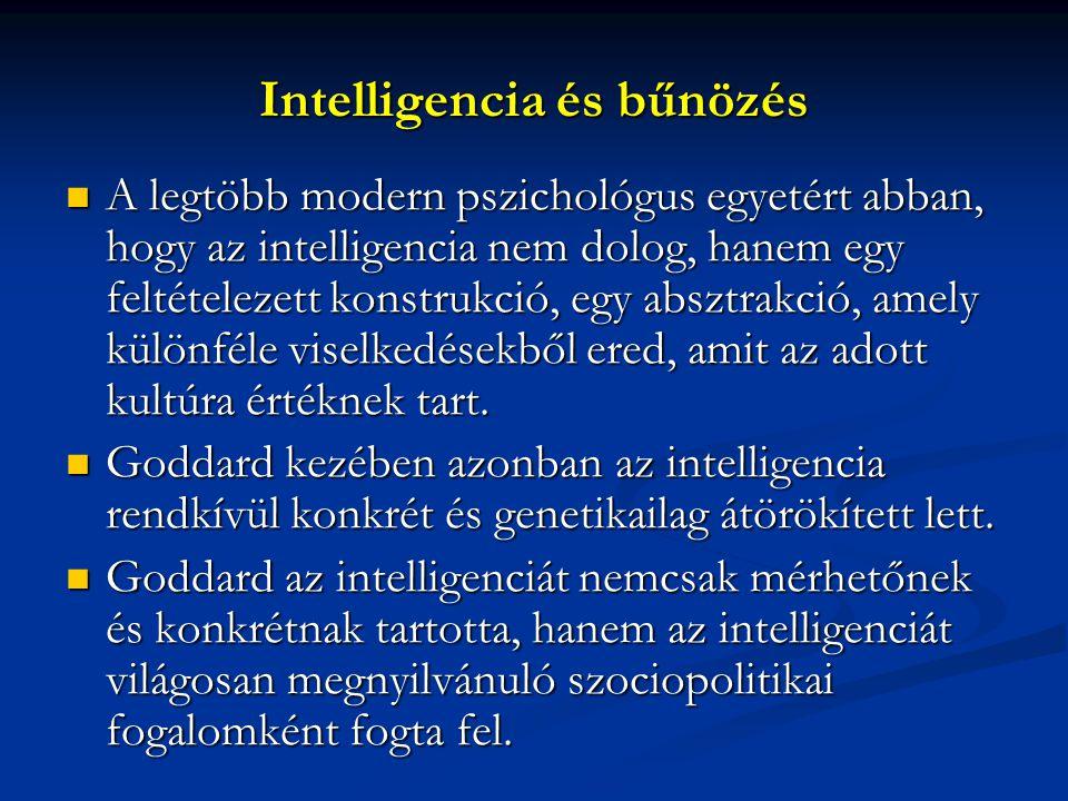Intelligencia és bűnözés