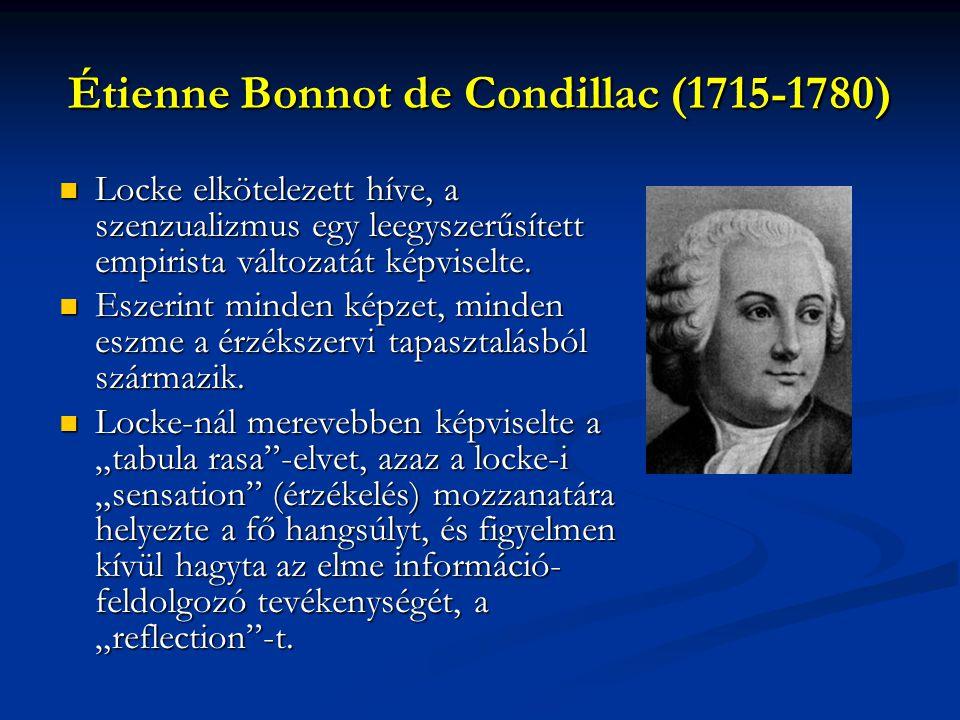 Étienne Bonnot de Condillac (1715-1780)