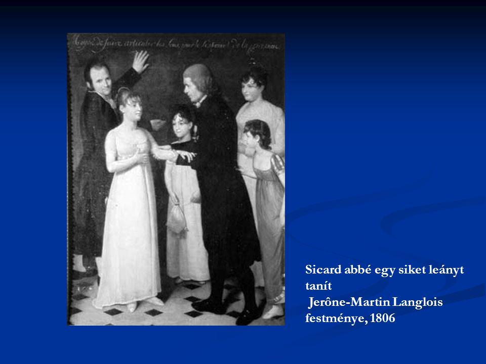 Sicard abbé egy siket leányt tanít