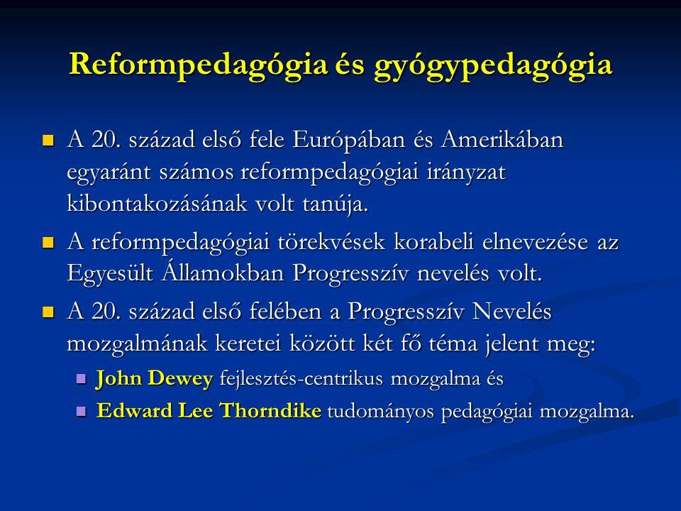 Reformpedagógia és gyógypedagógia