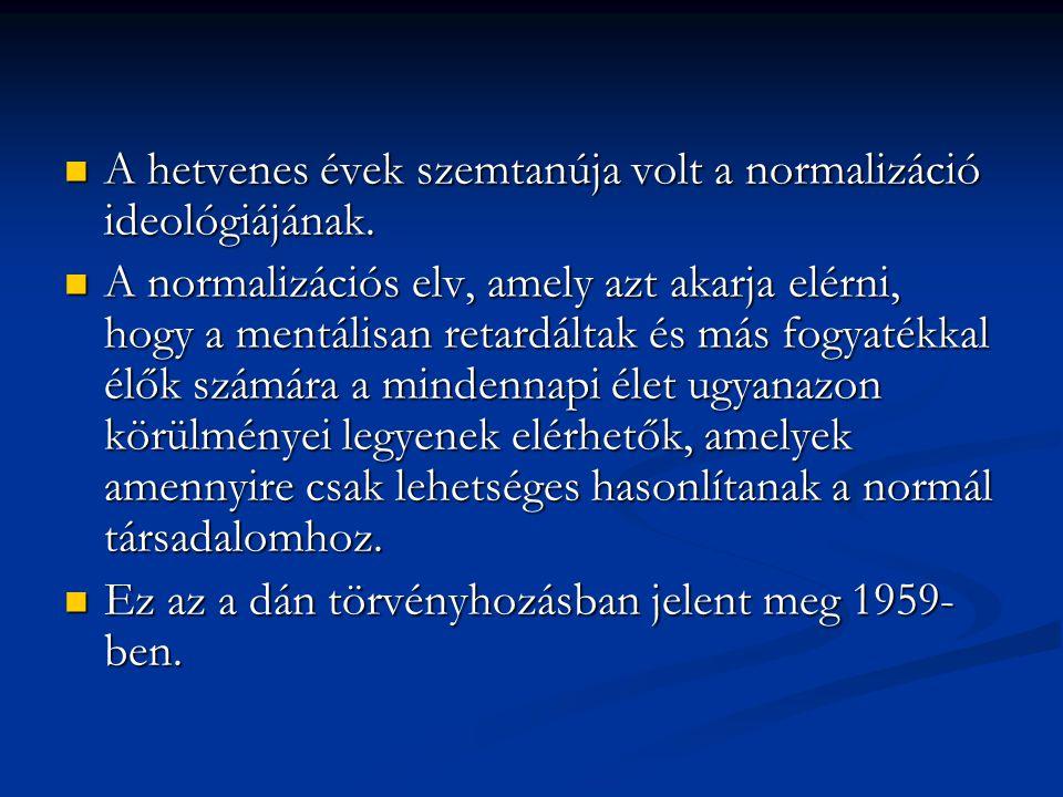 A hetvenes évek szemtanúja volt a normalizáció ideológiájának.