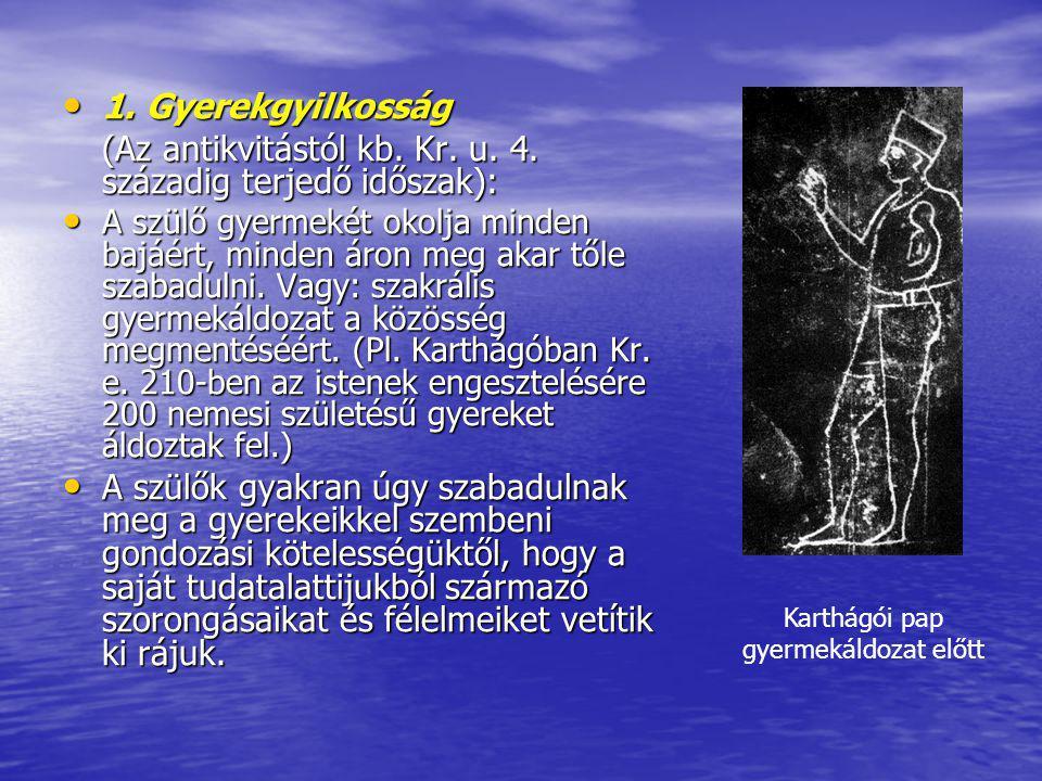 Karthágói pap gyermekáldozat előtt