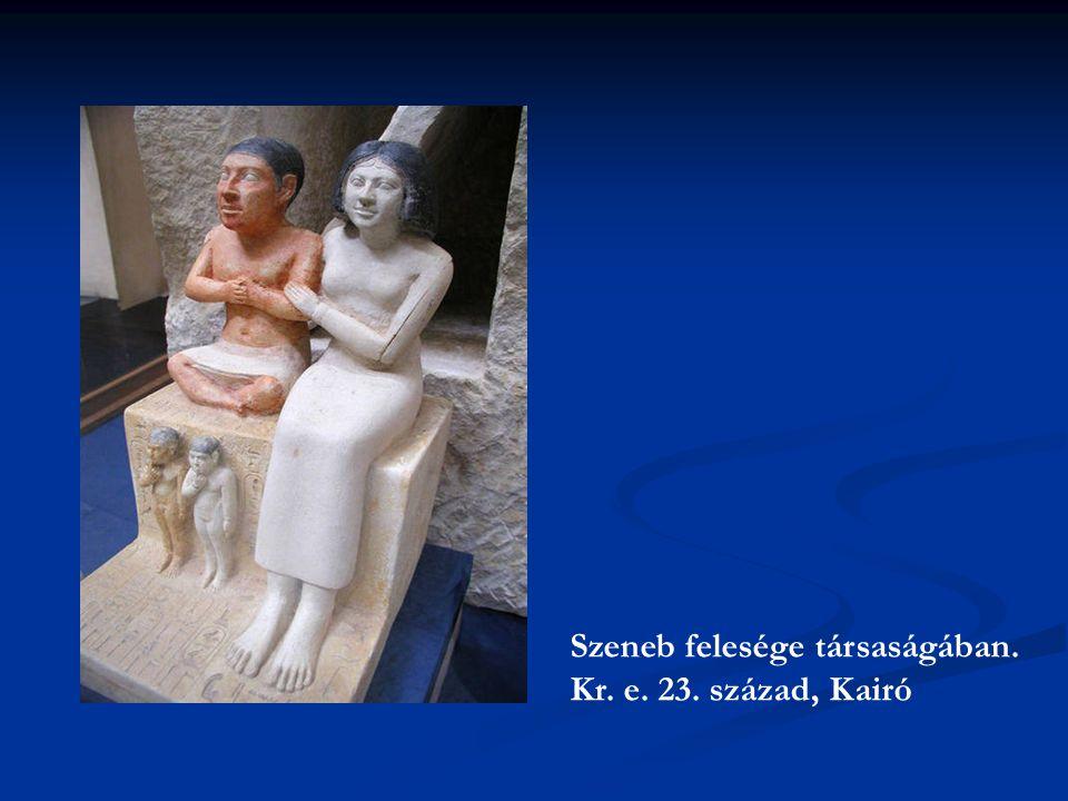 Szeneb felesége társaságában. Kr. e. 23. század, Kairó