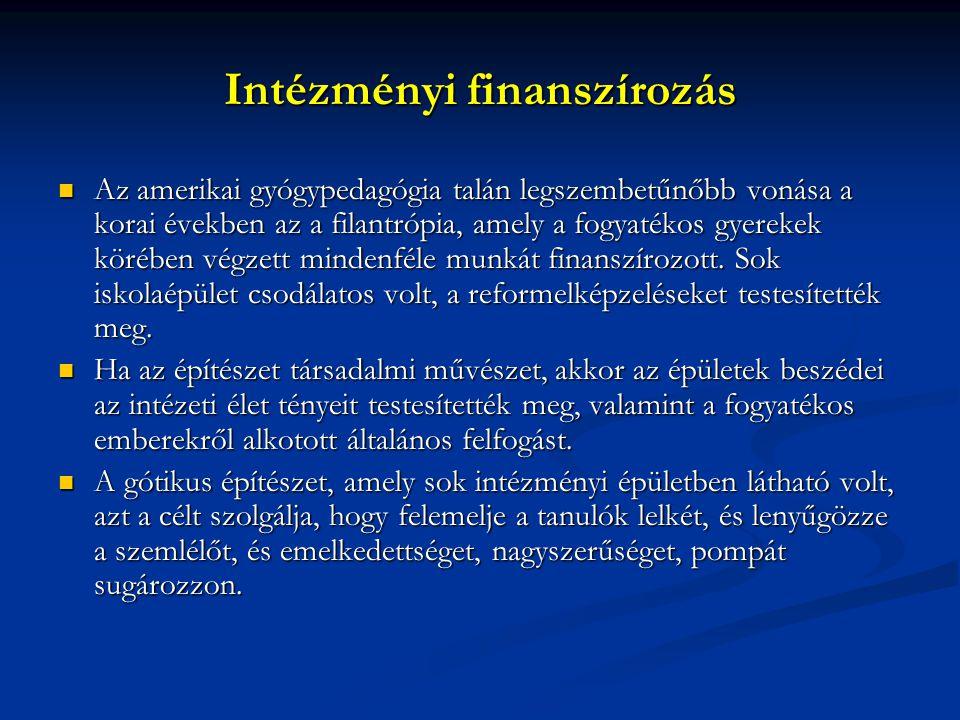 Intézményi finanszírozás