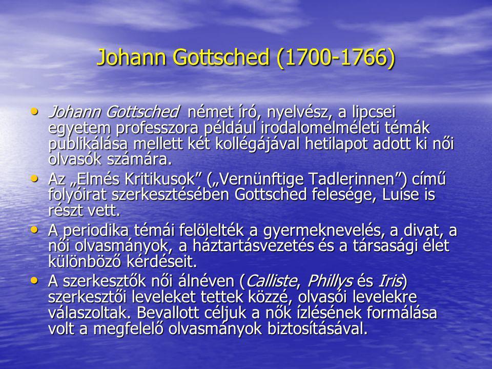 Johann Gottsched (1700-1766)